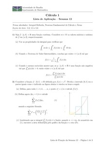 lista de aplicação   semana 12   integral definida, teorema fundamental do cálculo e áreas