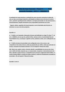 Gabarito de Caso Concreto - Penal IV - 2013.1 - SEMANA 11