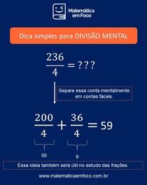 Divisão: técnica para cálculo mental