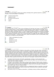 Histologia e Embriologia- Avaliando 1 a 4
