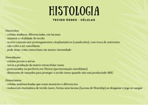 Histologia - Células do tecido ósseo
