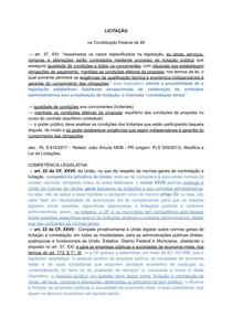 DIREITO ADMINISTRATIVO (Licitação, Contrato Adm , RDC e PPP)