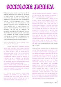 SOCIOLOGIA JURÍDICA - SEGUNDA PARTE (CLAUDIA ALBAGLI)