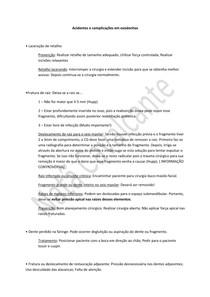 Acidentes e complicações em exodontias