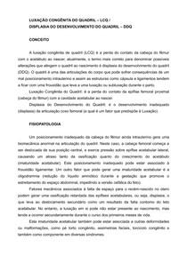 LUXAÇÃO CONGÊNITA DO QUADRIL LCQD