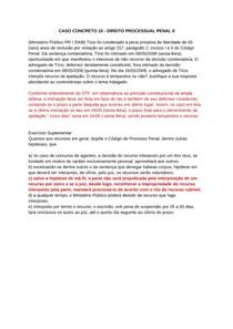 CASO CONCRETO 10 - DIREITO PROCESSUAL PENAL II