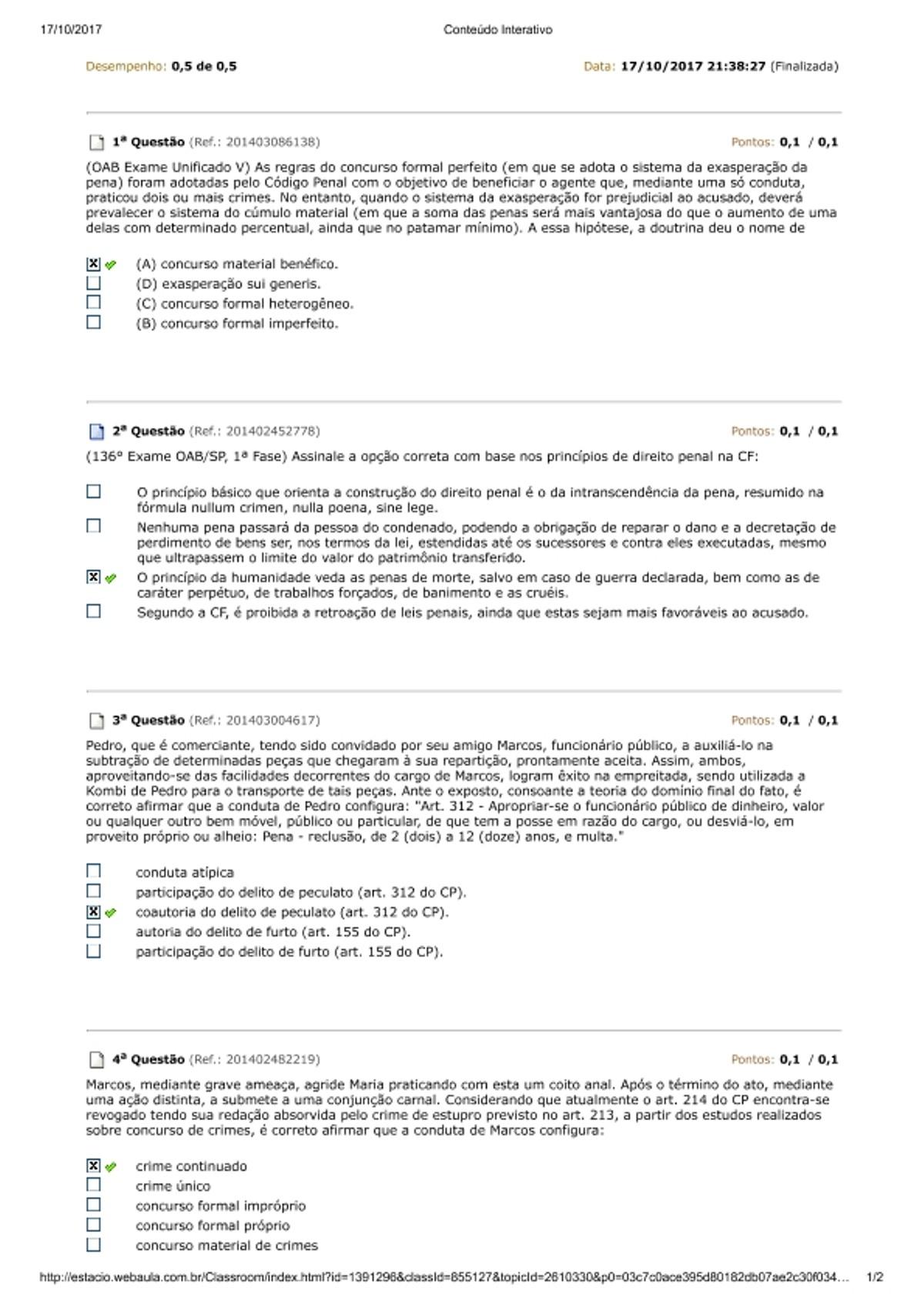 Pre-visualização do material av 1 PENAL II - página 1