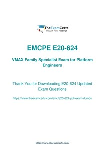 EMC e20 624 Associative Exam Dumps Questions   Updated 2018