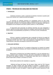 6    CURSO SEP TÉCNICAS DE ANÁLISES DE RISCOS   6 páginas
