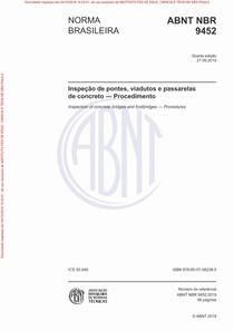 NBR 9452 - 2019 - Inspeção de OAEs - Procedimento