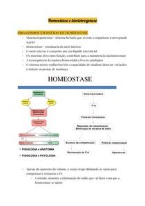 Homeostase e bioeletrogenese