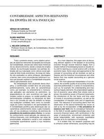 Contabilidade - aspectos relevantes