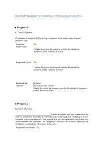 COMPORTAMENTO DE COMPRA E CONSUMO ATIVIDADE 4