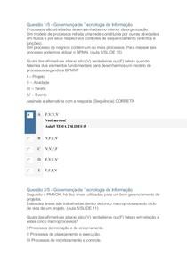 Governança de Tecnologia de Informação apol 04