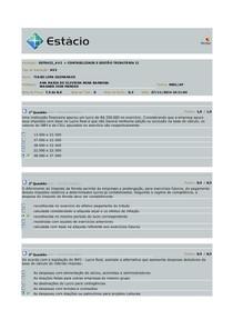 Av2 - Contabilidade e Gestão Tributária II