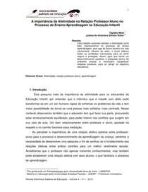 A importancia da afetividade na relação professor e aluno