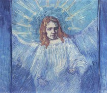 Vincent Willem van Gogh - Figura Metade de um Anjo Depois Rembrandt
