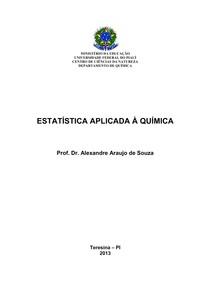 Apostila de Estatística Aplicada à Química