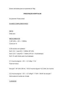 Prescrição hiperglicemia - CAD e EHH