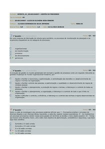 AV1 Gestão de Processos