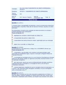 FUNDAMENTOS DIREITO EMPRESARIAL - AV1