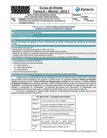 CCJ0009-WL-RA-01-TP na Narrativa Jurídica-Estrutura das Peças Processuais _27-07-2012_