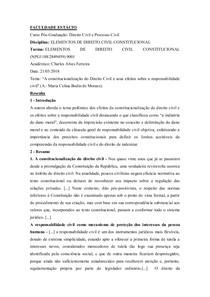 RESENHA   CONSTITUCIONALIZAÇÃO DO DIREITO CIVIL E SEUS EFEITOS SOBRE A RESPONSABILIDADE CIVIL