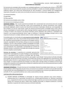 PSIQUIATRIA - ANSIEDADE