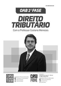 Direito Tributário OAB   EXAME DA ORDEM 1ª 2ª FASE