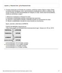 UNIASSELVI - Cinesiologia e Biomecânica - AVALIAÇÃO II