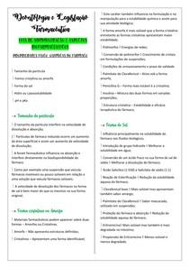 PROPRIEDADES FÍSICO QUÍMICAS DO FÁRMACO