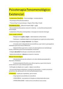 Psicoterapia Fenomenológica-Existencial