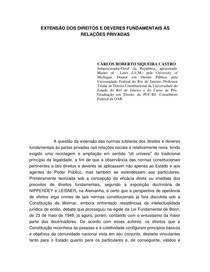 EXTENSÃO DOS DIREITOS E DEVERES FUNDAMENTAIS