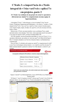 Cálculo 3: a importância do cálculo integral de várias variáveis e aplicação em projetos, parte 2