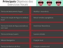 Principais objetivos dos exercícios vocais