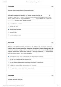 UNIVESP - Atividade para avaliação - Semana 4 - Estruturas de Dados - 2020