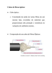 Aula 7 - Cabos e Conectores Ópticos