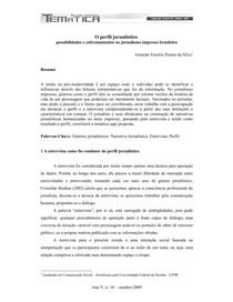 O perfil jornalístico_ possibilidades e enfrentamentos no jornalismo impresso brasileiro