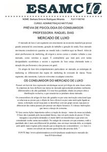 MERCADO DE LUXO