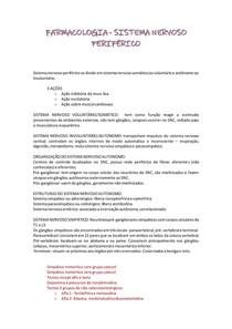 FARMACOLOGIA DO SISTEMA NERVOSO PERIFÉRICO