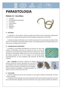 Parasitologia 2.2: Ascaridíase