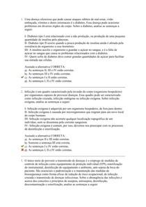 Biossegurança, Urgência e Emergência em Centros de Estética - Avaliação II