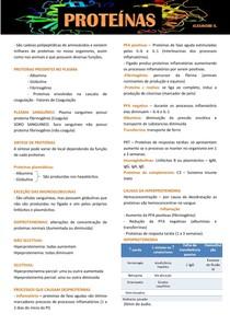 Resumo Proteínas - Patologia Clínica