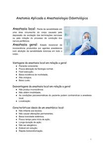 Resumo de anestesia