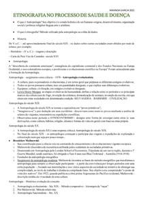 ETINOGRAFIA NO PROCESSO DE SAUDE E DOENÇA