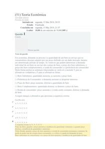 Exercicio de Fixação 01 - Teoria Econômica - tentativa 02