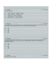 AV1 Mecânica   100 Questões