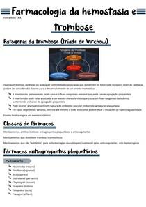 Farmacologia clínica da hemostasia e trombose