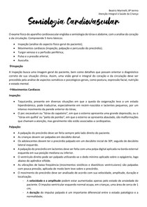 Semiologia Cardiovascular - Pediatria