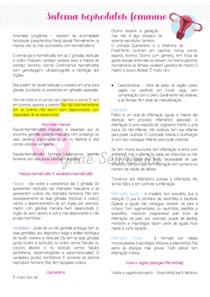 Patologias do Sistema Reprodutor Feminino - Parte II